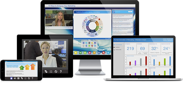 Managed webcasts and webinars devices
