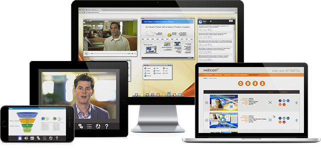 Self-service webcasts and webinars devices