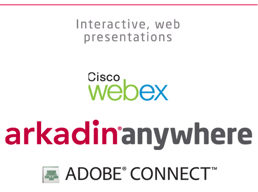 Arkadin Web events