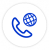 Global phone coverage icon