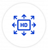 HD content sharing icon